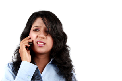 Irritated Indian Businesswoman