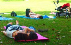ホリデープログラム:子連れOK 公園ヨガ